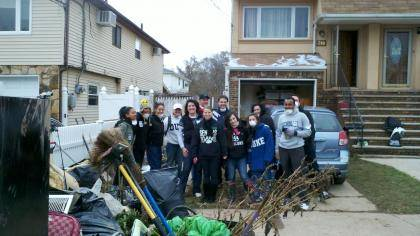 A group of Duke alumni spent a recent day helping Staten Island residents recover from Hurricane Sandy.