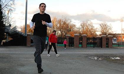 Alex Martinez, a specialist in the Office of Research Support, uses Duke's Run/Walk Club as a way to stay in shape. Get Moving Challenge participants can use LIVE FOR LIFE programs to achieve goals during the fitness competition. Photo by Bryan Roth