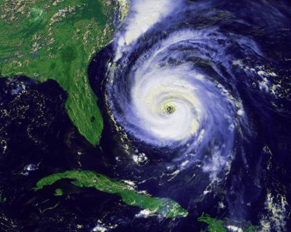 Hurricane Fran, which hit North Carolina and other eastern states in 1996, was among hurricanes to cause major damage in the Triangle. Photo courtesy of the National Oceanic and Atmospheric Administration.