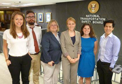 Faculty and students who took part in a Bass Connections project examining regulatory agencies included, from left to right: Kate Preston, Jonathon Free, Lori Bennear, Emily Pechar, Megan Hayes and David Cheang.