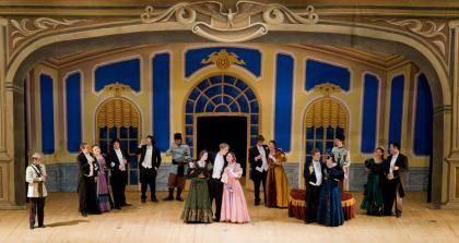 A 2009 Duke opera workshop performance of Die Fledermaus. Photo courtesy Duke music department.