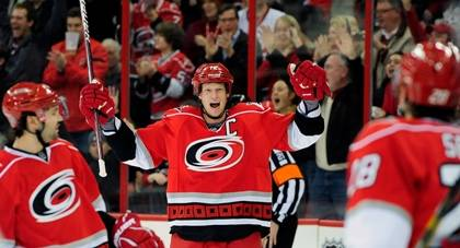 Enjoy the excitement of a home game for the Carolina Hurricanes and save up to $40 with a Duke PERQS discount. Photo courtesy of Carolina Hurricanes.