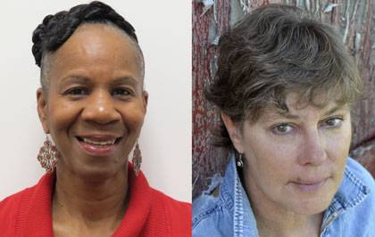 Patricia James (left) founder of Durham Triple Play Long Ball Program and Marcia Owen (right) director of the Religious Coalition for a Nonviolent Durham