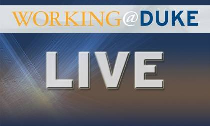 Watch 'Working@Duke LIVE' at noon on Nov. 8.
