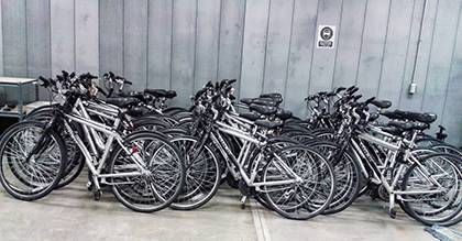 About 65 bikes will be for sale Aug. 30, when Duke community members can purchase steeply discounted bikes at the Arts Annex. Photo courtesy of Watts Mangum.