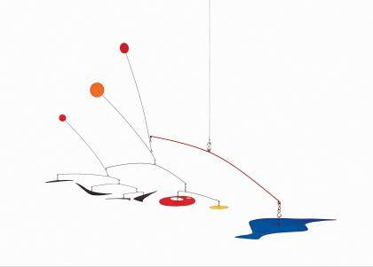Alexander Calder, Four Boomerangs, c. 1949. Painted sheet metal and steel wire 39 x 63 inches diameter. Collection Museum of Contemporary Art, Chicago. Gift of Ruth Horwich (1991.92). © 2011 Calder Foundation, New York / Artists Rights Society (ARS), N