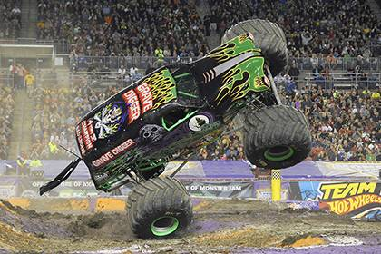 Grave Digger is one of the most popular Monster Trucks that can be seen on the Monster Jam tour. Employees can get a discount to the event in Raleigh. Photo courtesy of Monster Jam.