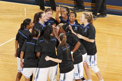Duke employees can cheer on the women's basketball team this Friday for $5 per reserved seating ticket. Photo courtesy of Duke Athletics.