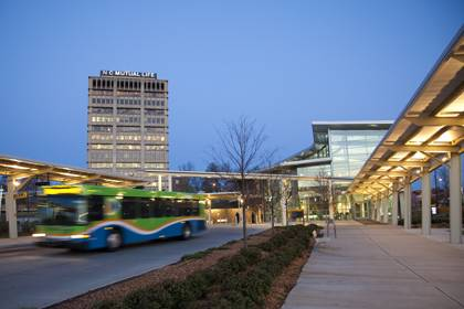 With the GoPass, Duke community members can ride Triangle Transit buses for free. Photo courtesy of Triangle Transit.