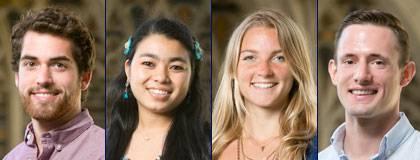 The 2015-16 Hart Fellows: Scott Boisvert, Laxmi Rajak, Anne Martin and David Robertson