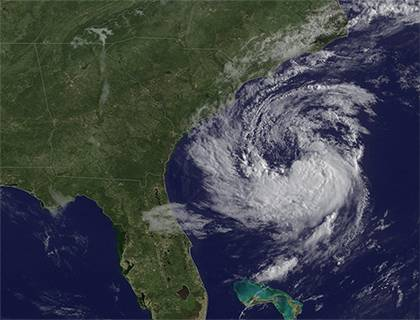 This image from the National Oceanic and Atmospheric Administration shows Tropical Storm Ana, which formed along the East Coast in May, before hurricane season officially began.