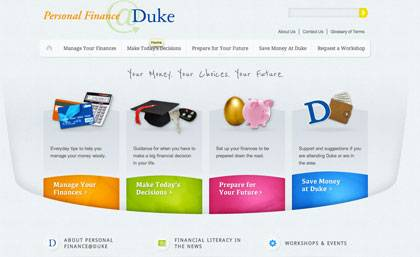 A new website advises students on financial issues.