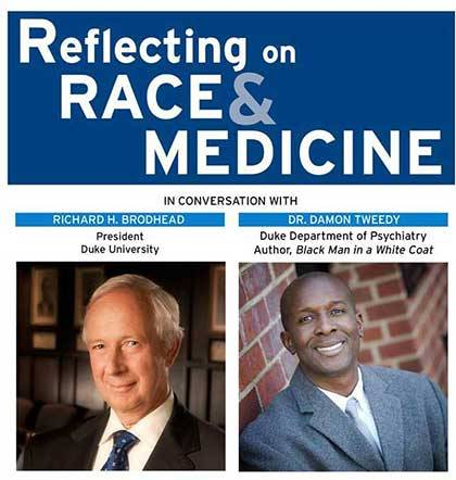 Richard Brodhead and Dr. Damon Tweedy will speak Thursday.