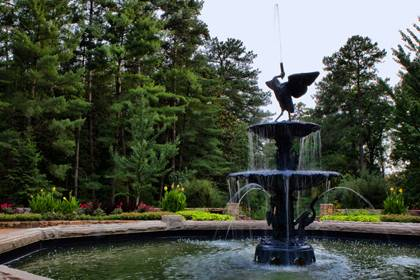 Duke's efforts to restore the Roney Fountain has returned some history to the Gardens. Photo by Rick Fisher.