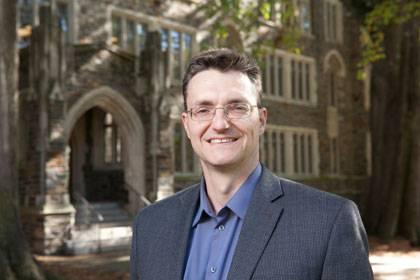 Duke sociologist Martin Ruef is exploring new data sources to understand the sociology of entrepreneurship.  Photo by Les Todd/Duke University Photography