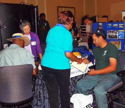 Among the activities featured at Duke's Safety Fair are blood pressure screenings and other health information. Photo courtesy of Mike Snyder.