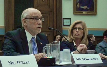 Law professor Christopher Schroeder testifies on presidential authority Wednesday.