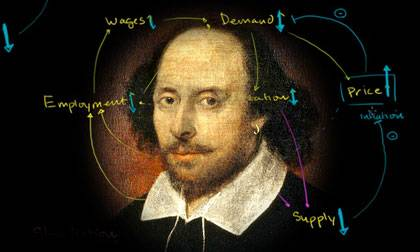 Shakespeare's plays are rife with policy errors, a useful tool in an economics course.