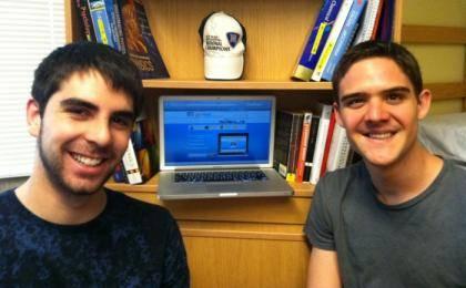 Tito Bohrt (left) and Fabio Berger created ShelfRelief.com