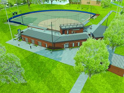 This artist rendering shows what the new Duke softball field will look like after its completion. Duke will begin early stages of site work this week. Photo courtesy of Duke Athletics.