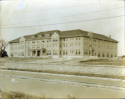 Upon its completion circa 1920, Southgate Residence Hall was named after James Haywood Southgate. The construction and naming of the building received heavy support from Durham's black leadership. Scroll down to see this image of Southgate today. Photo c