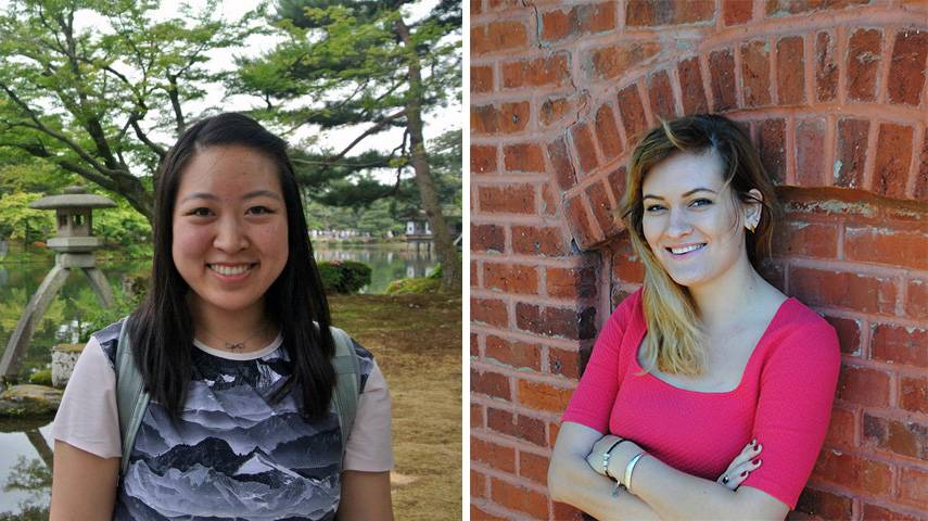 Humanities grad students Hannah Ontiveros and Kelly Tang participated in the NHC pilot program.