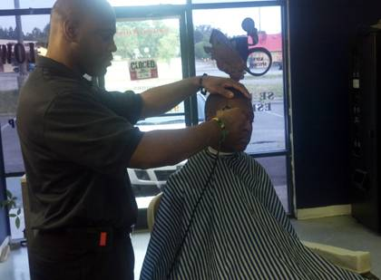 During his downtime, Terrence Patterson enjoys cutting hair. Photo courtesy of Terrence Patterson.