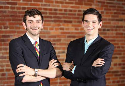 Jacob Tobia (left) and Patrick Oathout won Truman Scholarships in 2013