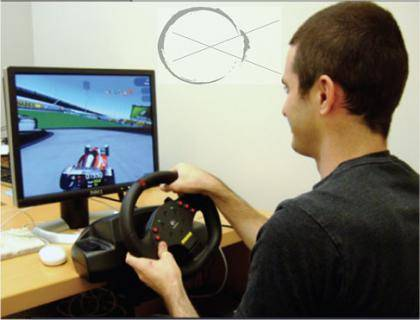 Students in the trial drove the video game