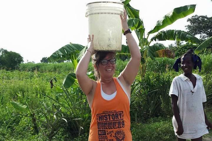 Lydia Bradford in Haiti