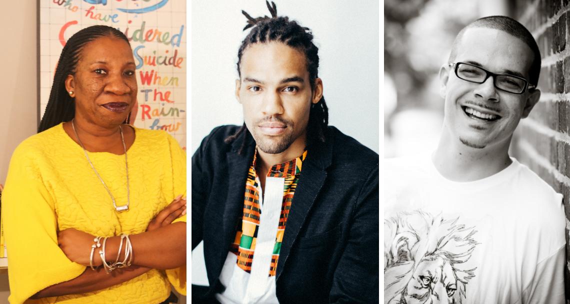 Speakers at 2019 MLK ceremonies: Tarana Burke, Pierce Freelon and Shaun King.