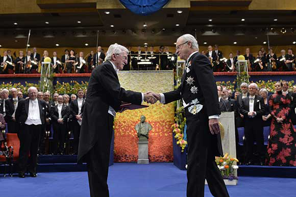 Paul Modrich at Nobel ceremony