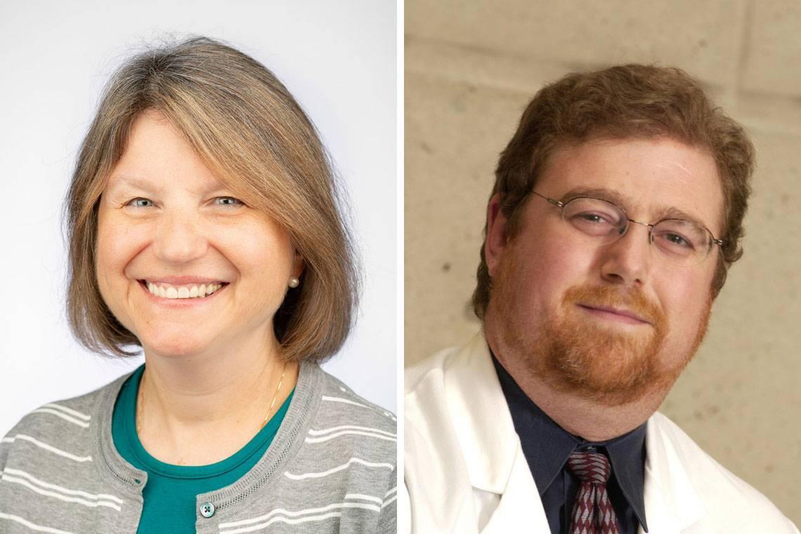 Provost Sally Kornbluth and Professor Bruce Sullenger