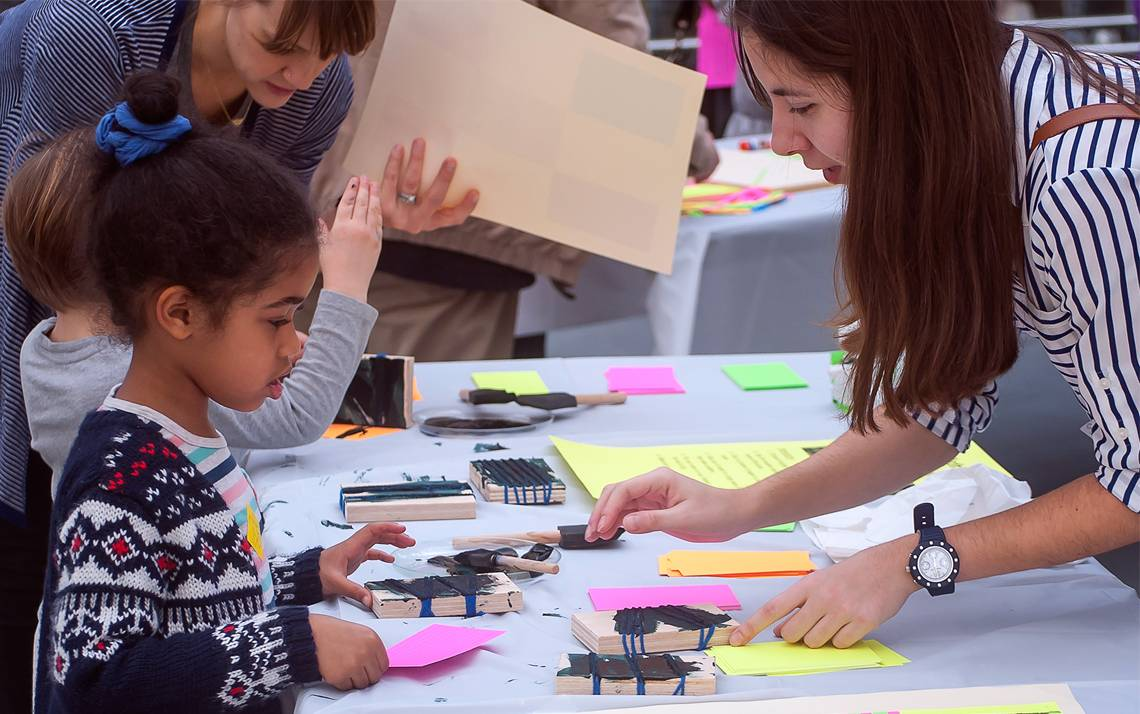 Families will have free admission into the Nasher Museum of Art this month, where children can participate in a variety of activities.