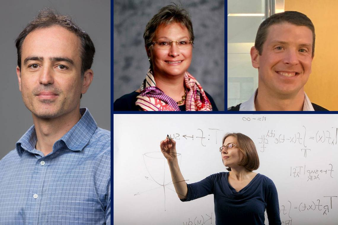 Early Career Award winners, clockwise from left: Nicolas Cassar, Tracey Yap, Michael Boyce and Lillian Pierce