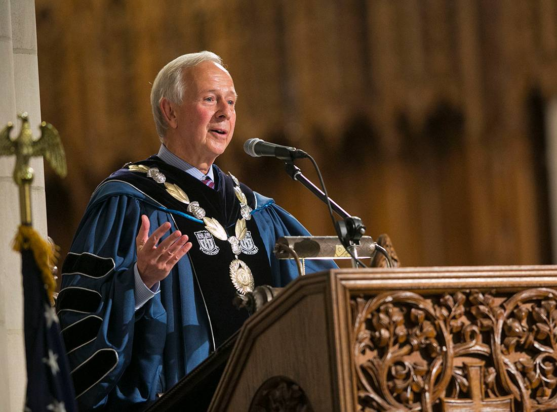 President Brodhead told students they should face struggles with a resilience showing