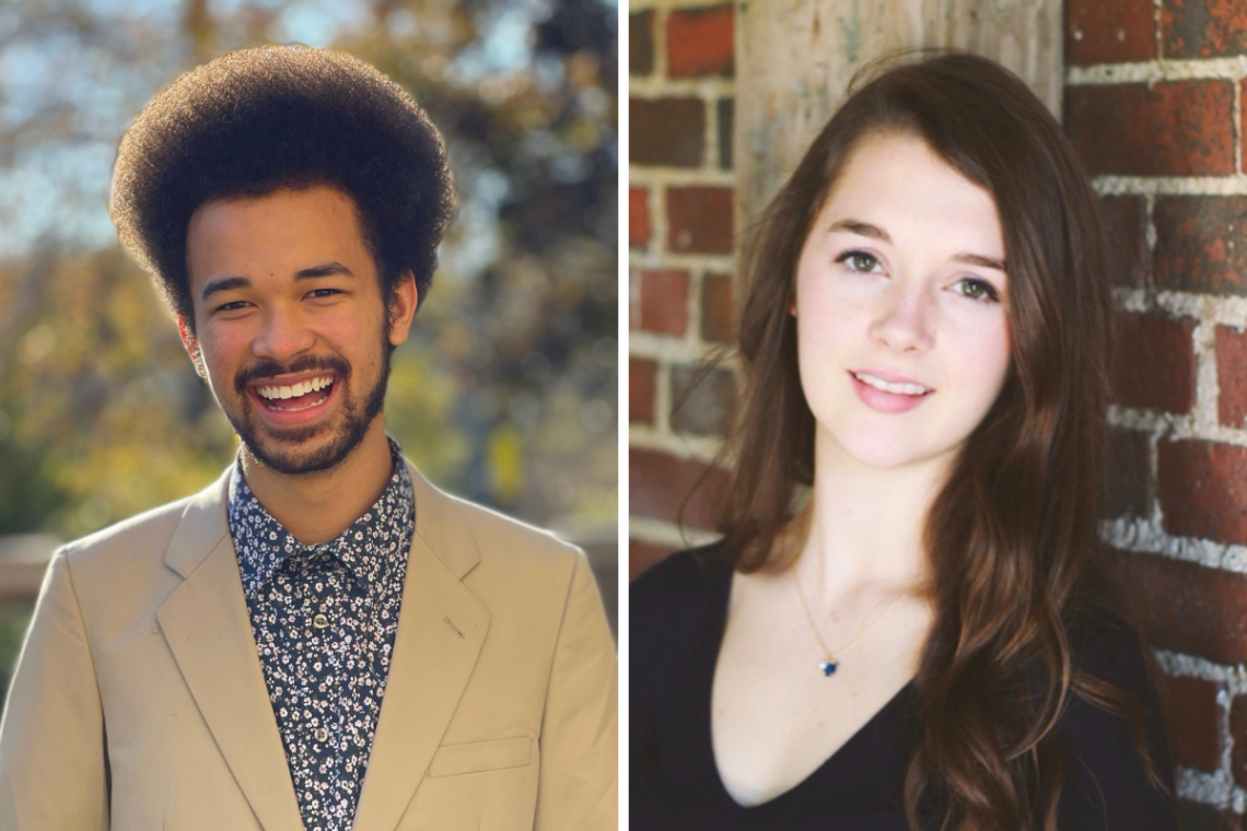 Jamal Burns and Kendall Jefferys, Duke's 2020 Rhodes Scholars.