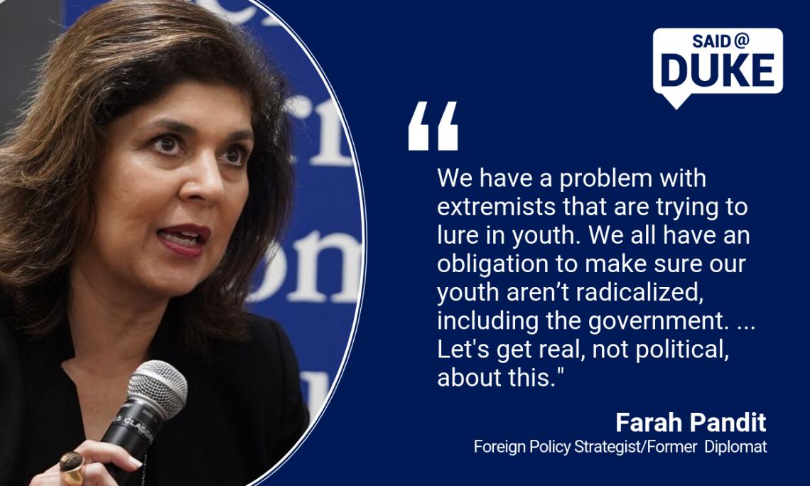 Said@Duke: Farah Pandith on Countering Violent Extremism