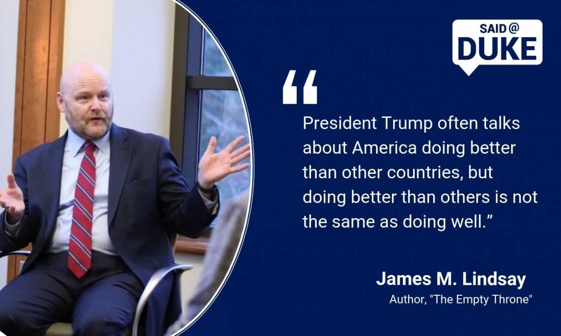 James Lindsay on American Leadership