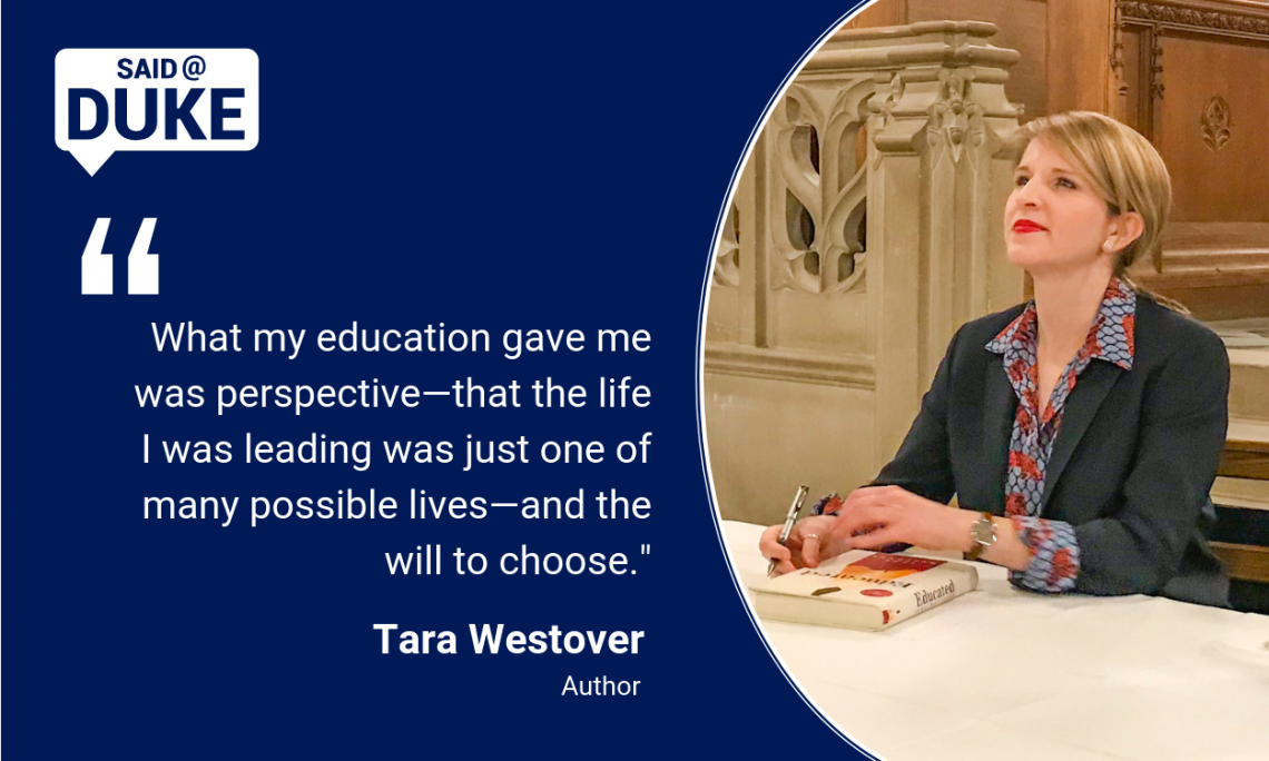 Author Tara Westover on what education gave her