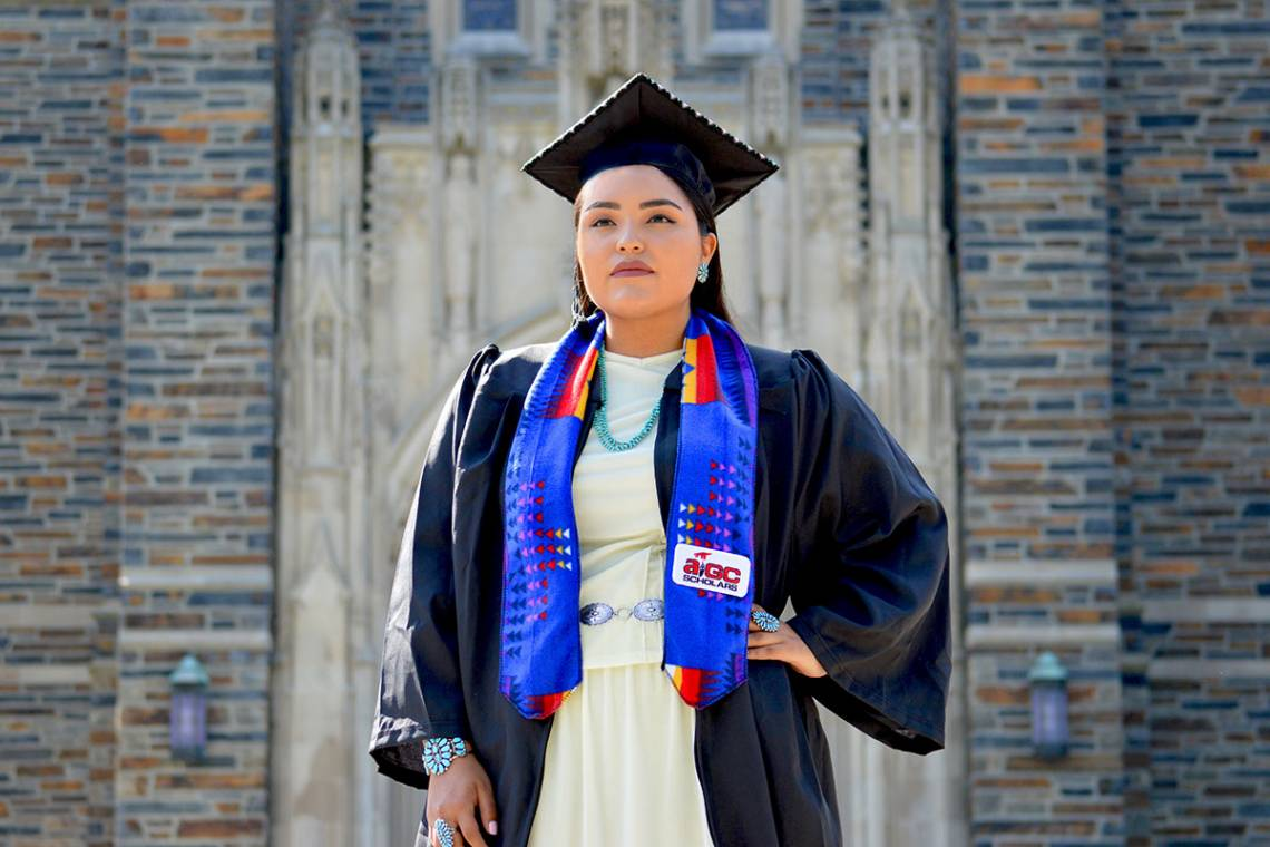 Shandiin Herrera has helped raise the profile of the Native American community on campus.