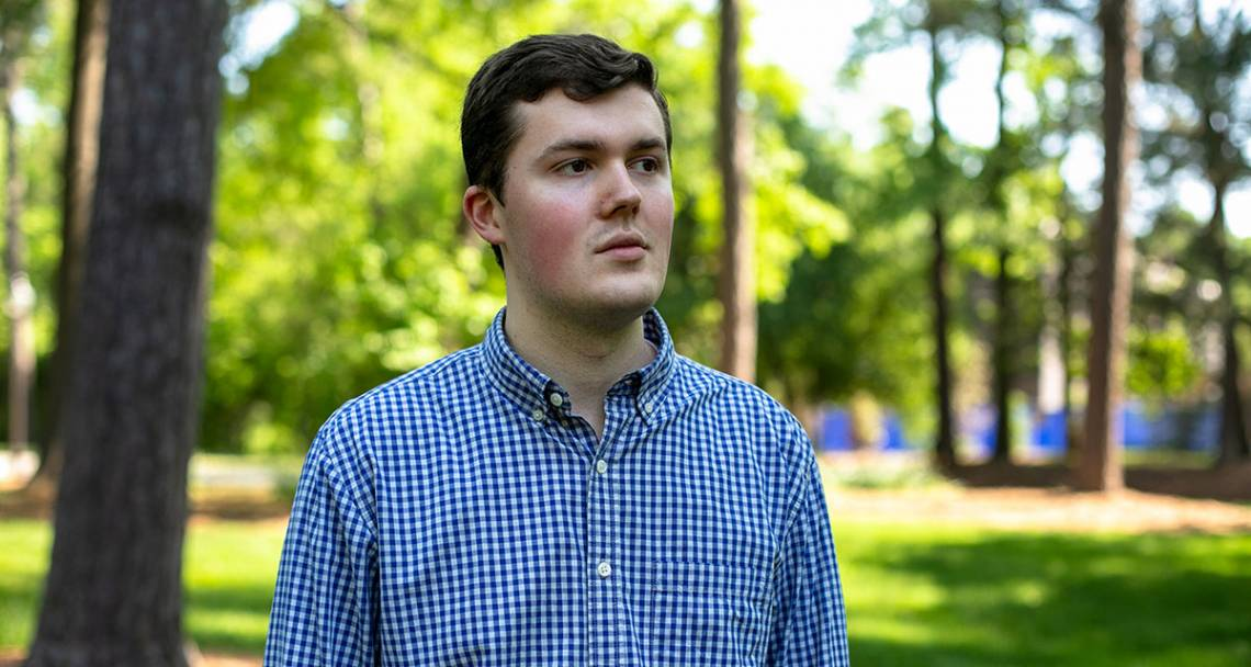 At Duke, Justin Sherman's curiosity about cybersecurity has turned him into a sought-after writer on the intersection of technology, policy and ethics.