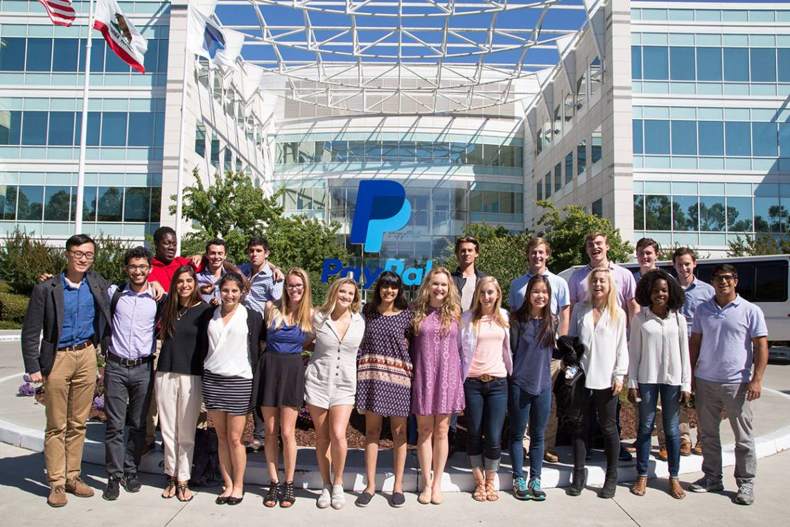Students in the Duke in Silicon Valley program.