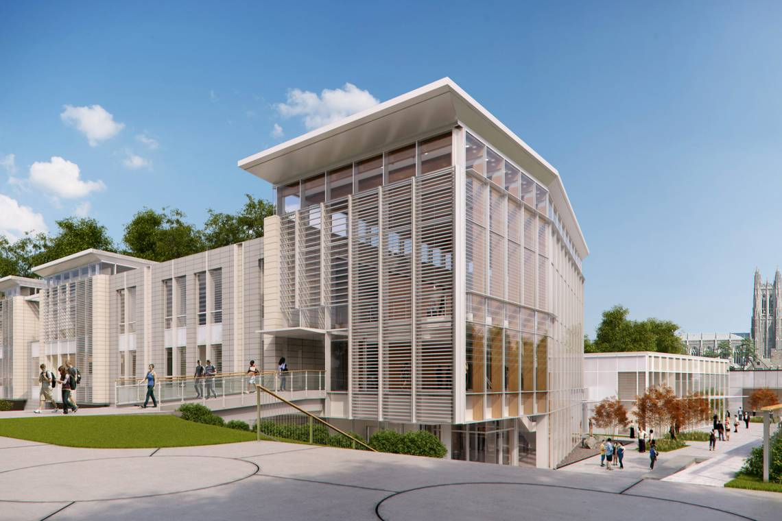 An artist rendition of the Student Wellness Center. The second and third floors are open for Student Health and Counseling and Psychological Services.