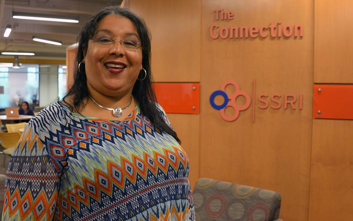 Tanya Exum-Coston has worked at Duke for 20 years and says her previous experience as a teacher helps in her current role with the Social Science Research Institute.