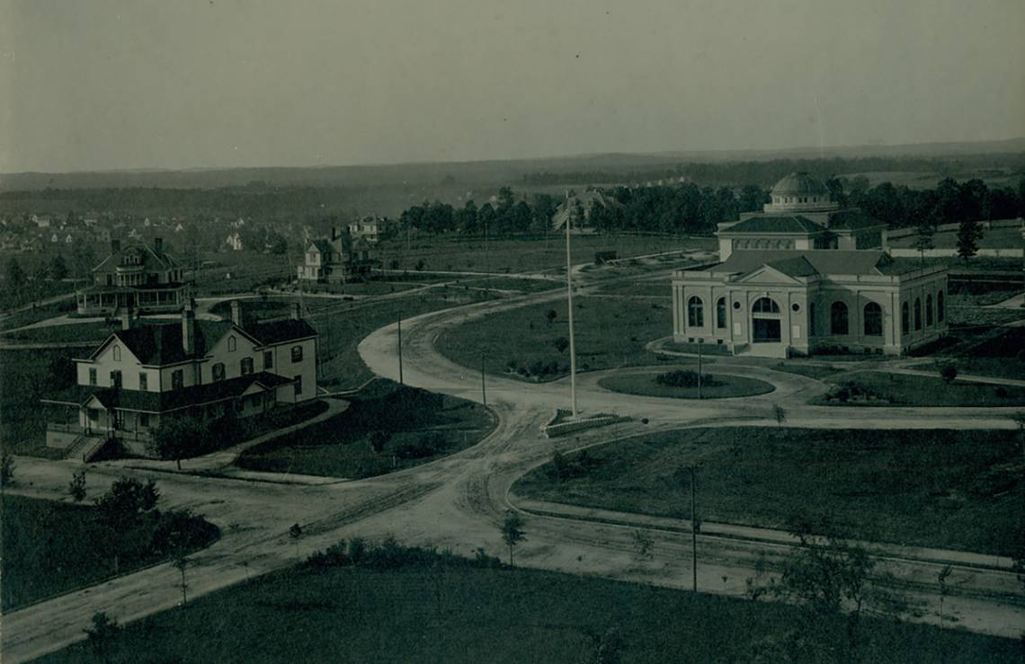 Trinity College started in Durham as part of the current university East Campus. Photo courtesy Duke University Archives