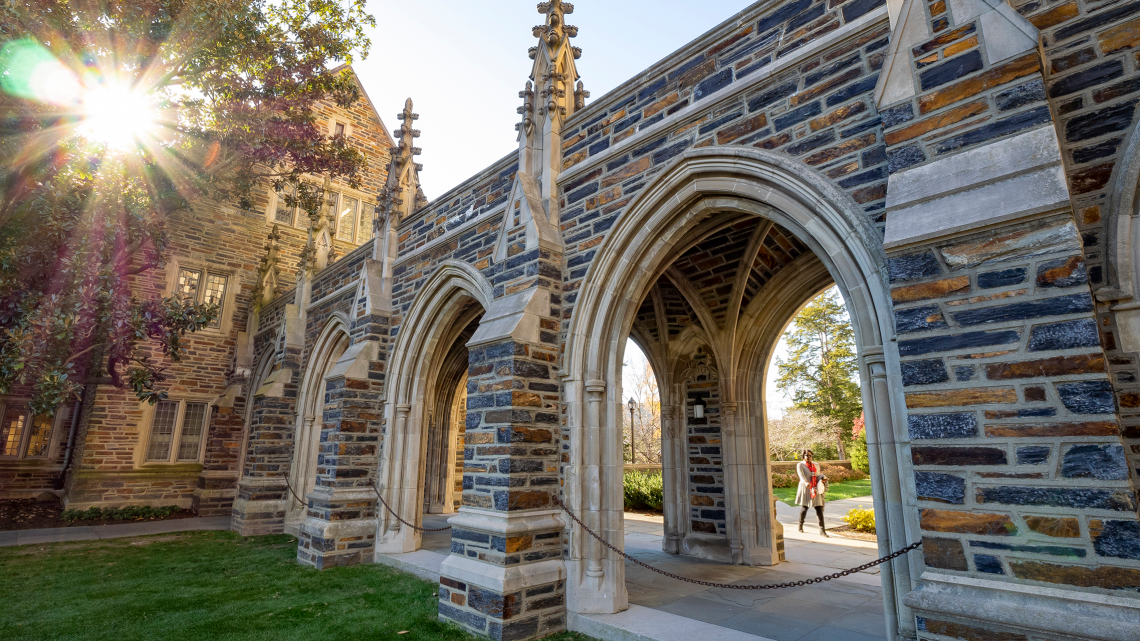 The walkway by Abele Quad, named after the African-American architect who designed much of West Campus.
