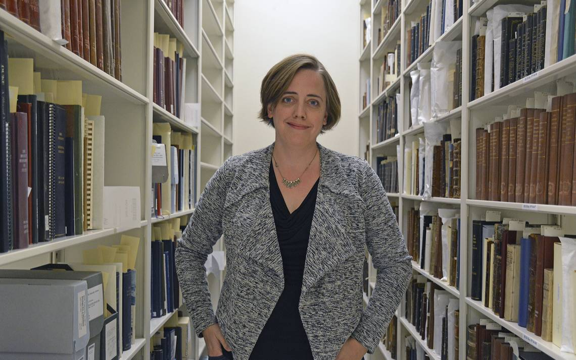 Valerie Gillispie helps oversee the collection and care of thousands of archived documents.