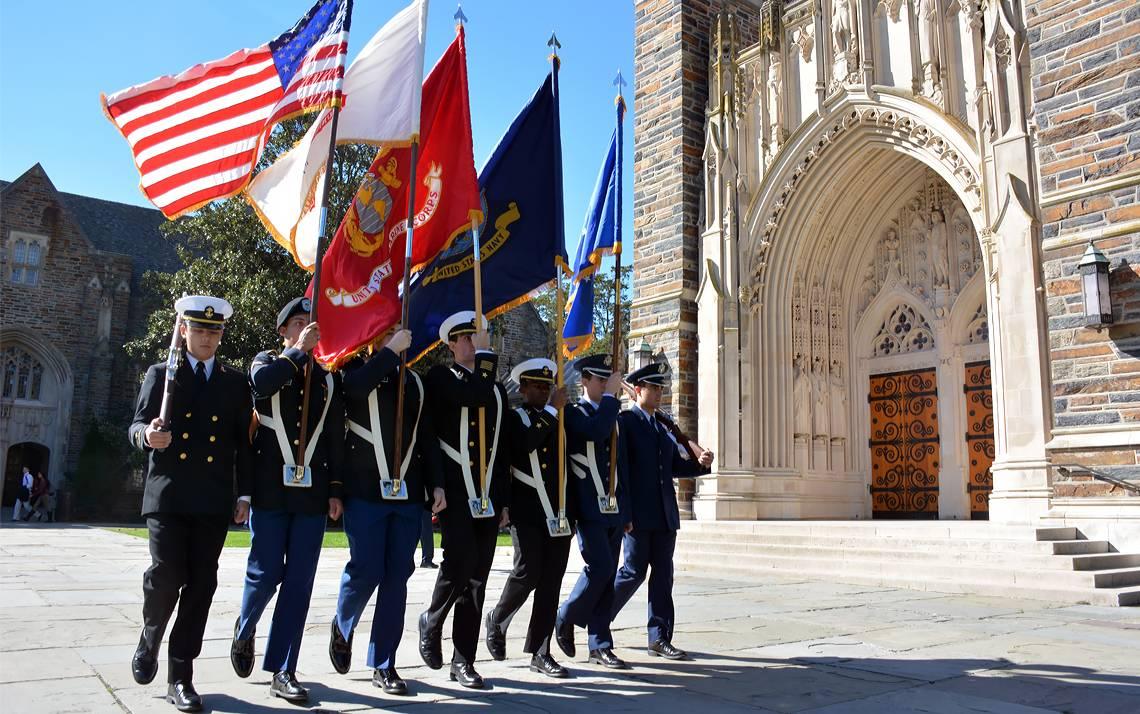 Duke will commemorate Veterans Day on Nov. 10.