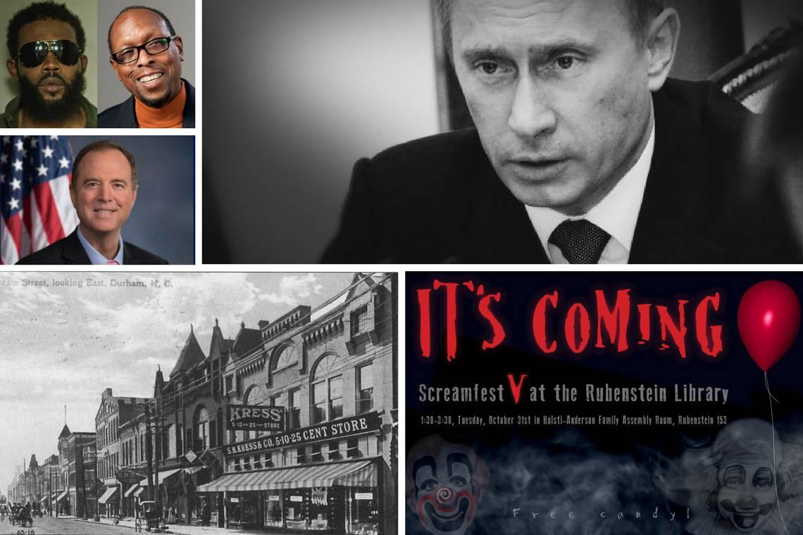 This Week at Duke: Halloween, Putin's Revenge, Rep. Schiff